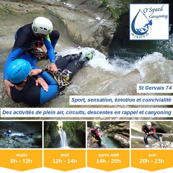 Vignette - O'Speed Canyoning St Gervais