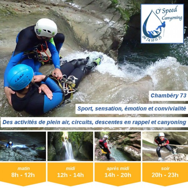 Vignette - O'Speed Canyoning Chambéry
